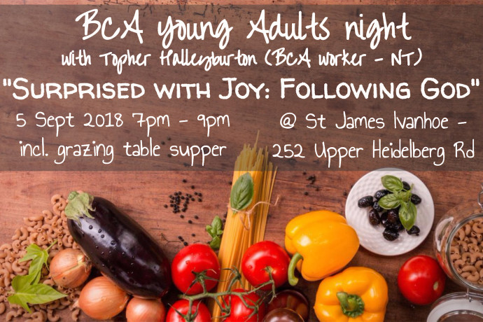 BCA Young Adults Event - September 5